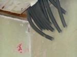 Die Leerrohre für die Elektrokabel kommen aus der Flurdecke