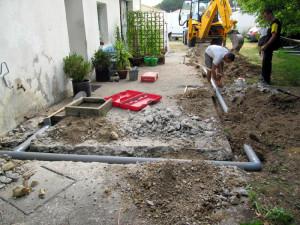 Abwasserrohrverlegung