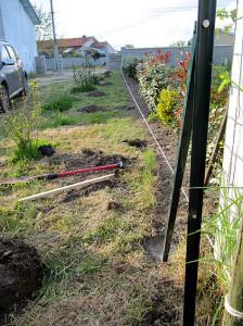 Löcher für den Zaun