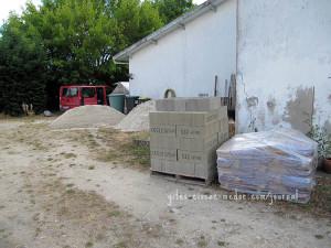 Zement und Steine