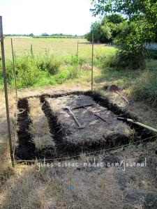 Fundament für Gewächshaus