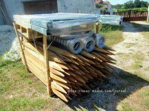 Zaun-Materialien